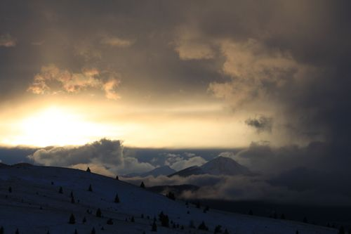 Sunsets, snow dogs 144