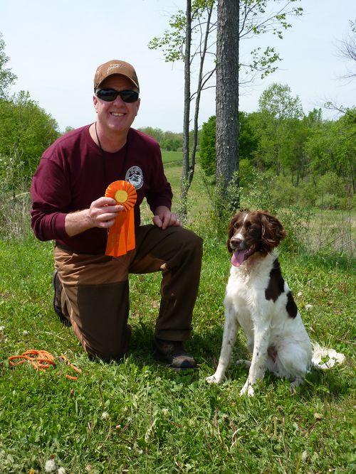Craig and Senzi first Junior ribbon!